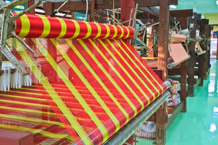 east asia: Machine woven silk Old-style thailand