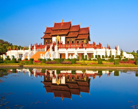 wat Ho kham luang temple northern thailand  photo
