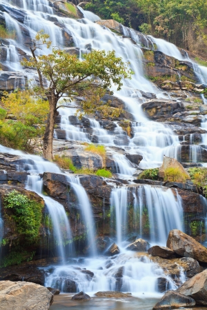 Waterfall in the forest North thailand asia  photo