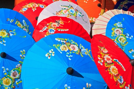 Asian umbrella s handmade umbrella  Stock Photo