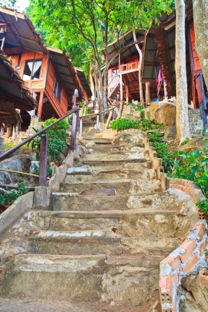 Resort entrance Mountain resort in Mountains