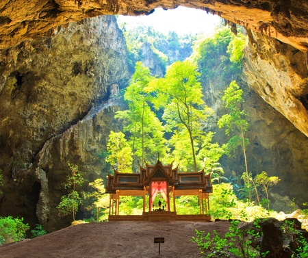 cave and pavilion asia thailand photo