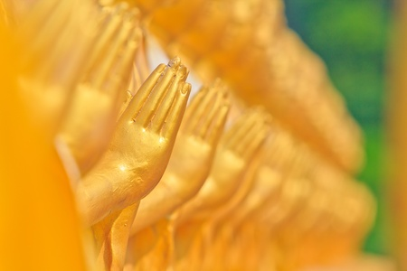 praye: Hand of Buddha Stock Photo