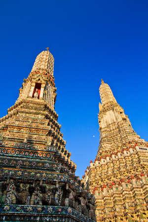Old Temple Wat Arun in bangkok thailand  photo