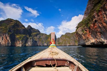 viking ship: Ship Nose Front View Phi Phi Island thailand