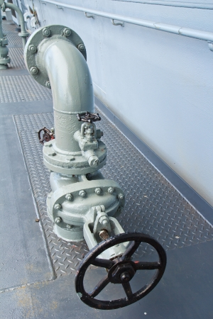 Steel pipelines and valves photo