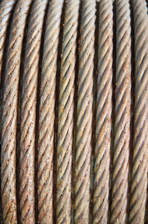 Steel wire rope cable closeup  Stock Photo - 20332960