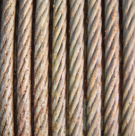 Steel wire rope cable closeup Stock Photo - 20332952
