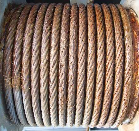 Steel wire rope cable closeup Stock Photo - 20332959