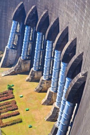 The power station at the Dam in Thailand  The dam a capacity of 13,462,000,000 cubic  photo