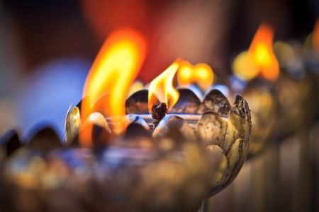 oil lamp arranged in patterns  photo