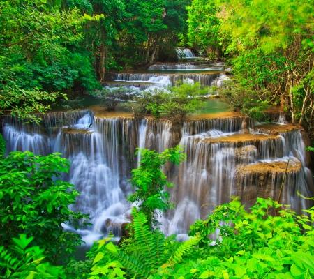 huay: Huay Mae Kamin waterfall asia thailand