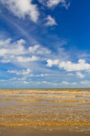 rains: Tropical sea in the monsoon season thailand