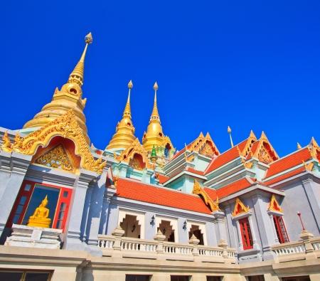 gaya: Temple Wat Maha Chedi in Prachuap Khiri Khan Province Thailand Stock Photo