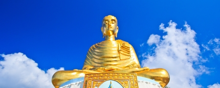 Golden Buddha in Temple Wat Maha Chedi in Prachuap Khiri Khan Province Thailand photo