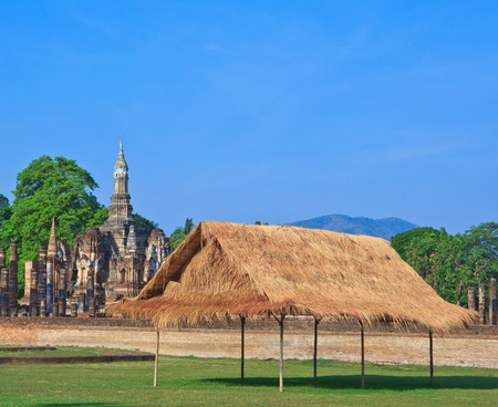 Thai style wooden hut of hill-tribe on the north of Thailand  photo