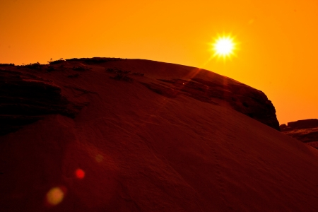 Dune view morning silhouettes landscape in ubon ratchathani province southeast asia and asian thailand  photo