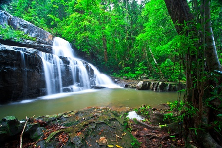Deep forest waterfall pang sida national park sa kaeo province asia thailand Stock Photo - 21912834