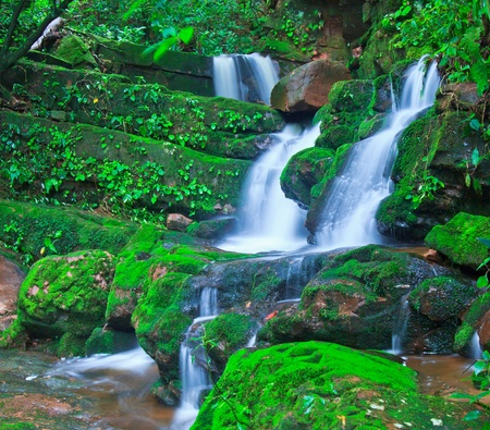 Beautiful sai thip waterfall phu soi dao national park, uttaradit, province asia southeast asia Thailand  photo