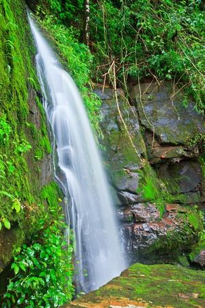 Beautiful sai thip waterfall phu soi dao national park, uttaradit, province asia southeast asia Thailand  photo