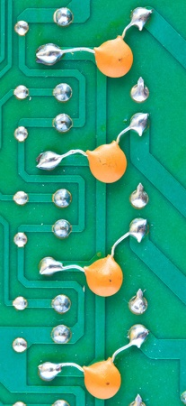 Resistor electronic components mounted on a motherboard  photo