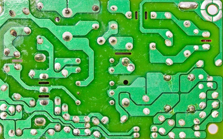 computer hardware: Close-up of electronic circuit board macro and remote  Stock Photo