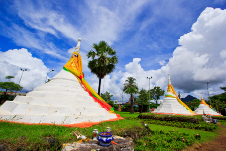 The Three Pagodas Pass in Thailands province Sanghkla Buri is a border post to the Union of Myanmar   photo