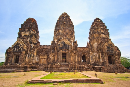 Ancient building Wat Phra Si Rattana Mahathat in Lopburi Asia Thailand  photo