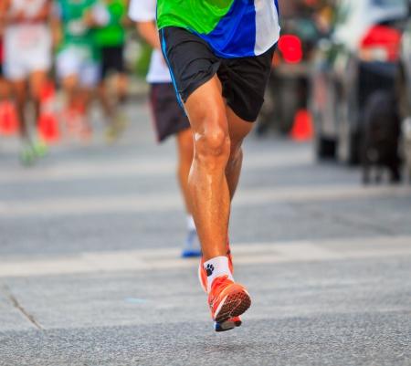 Runner running and marathon  Stock Photo