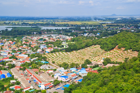 View across the city of Nakhon Sawan Asia Thailand Stock Photo - 22632136