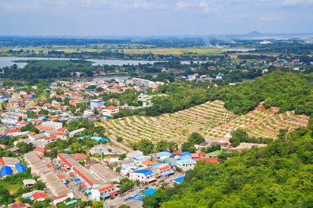 View across the city of Nakhon Sawan Asia Thailand Stock Photo - 22632136