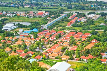 View across the city of Nakhon Sawan Asia Thailand Stock Photo - 22632139
