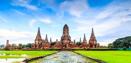 ayuthaya: Old Temple wat Chaiwatthanaram of Ayuthaya Province  Ayutthaya Historical Park  Asia Thailand  Stock Photo