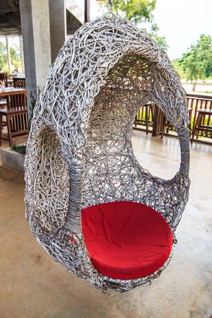 Hanging rattan chair  photo