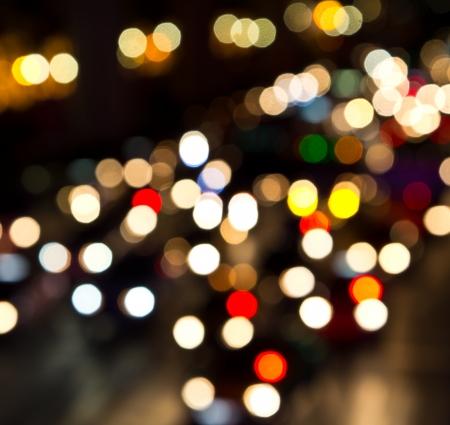 Night lights of city  photo