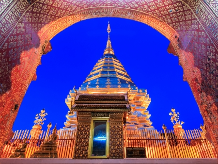 wat phra That Doi Suthep,Temple Chiang Mai Province Thailand  photo