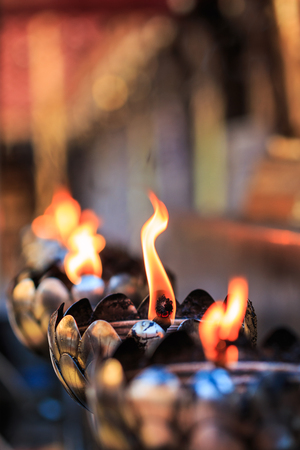 Oil lamp arranged in patterns Beautiful  photo