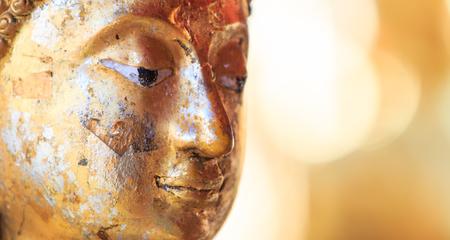 cambodia sculpture: Buddha face and Buddha head in Asia Thailand    Stock Photo