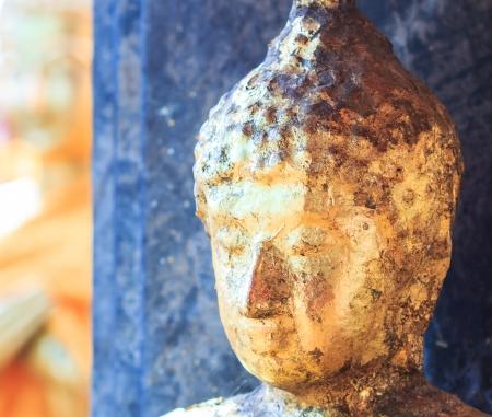 cambodia sculpture: Golden Buddha in Temple Chiang Mai Asia Thailand