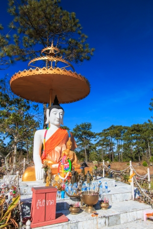 cambodia sculpture: buddha in phukradueng national park
