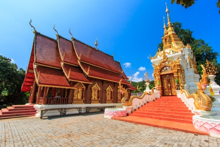 Wat Temple in Mae Chaem District Chiang Mai Thailand photo