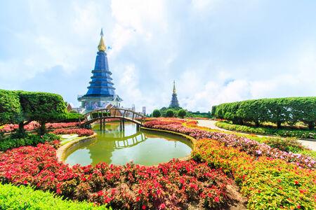 doi: Pagoda in Doi Inthanon Thailandia Archivio Fotografico