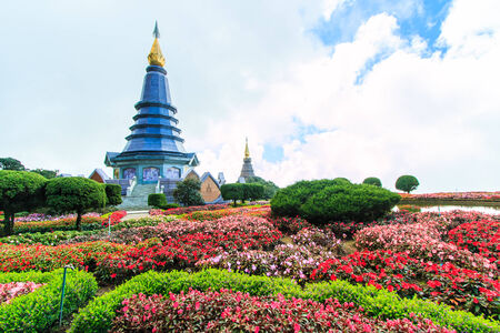 doi: Pagoda in Doi Inthanon Thailand Stock Photo