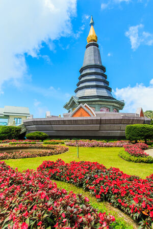 Pagoda in Doi Inthanon Thailand photo