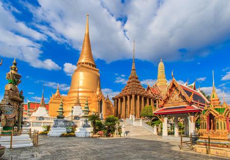 Wat Phra Kaeo, Tempel van de Emerald Buddha in Bangkok, Azië Thailand
