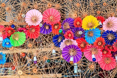 Thailand umbrellas background photo
