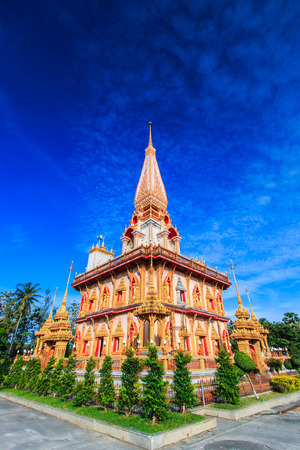 chalong: Wat chaiharam or Wat Chalong temple in Phuket asia thailand  Stock Photo