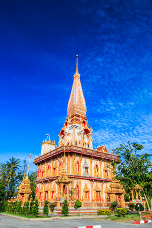 Wat chaiharam or Wat Chalong temple in Phuket asia thailand  photo