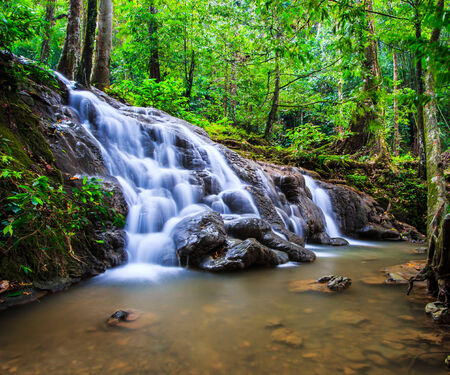 manora: Waterfall  Sra Nang Manora Forest Park Waterfall  in Phang nga province Thailand  Stock Photo