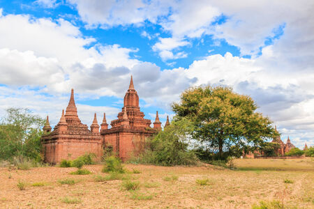 fascinate: Pagoda and Temples in old town at Bagan in Myanmar , Asia Stock Photo